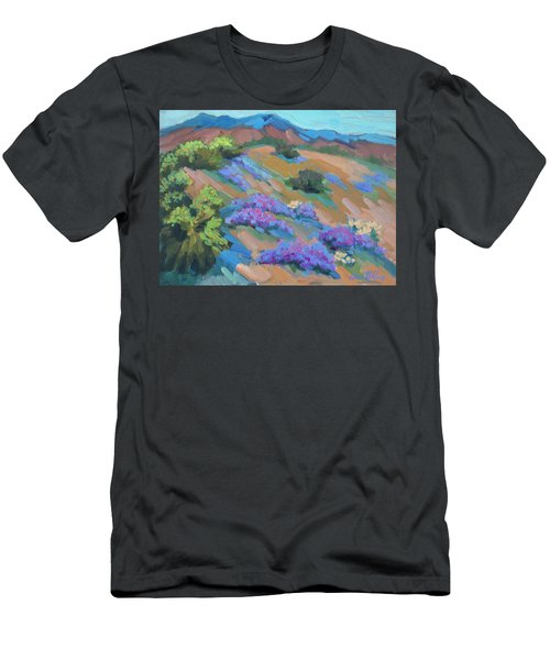 Men's T-Shirt (Slim Fit) featuring the painting Borrego Springs Verbena by Diane McClary