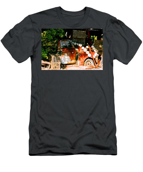 B.o.'s Fish Wagon In Key West Men's T-Shirt (Athletic Fit)