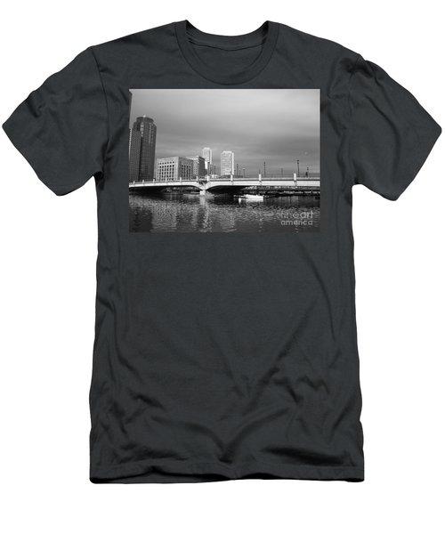 Boston Bridge Men's T-Shirt (Slim Fit) by Barbara Bardzik