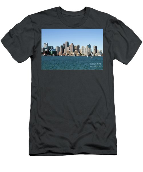 Boston City Skyline Men's T-Shirt (Athletic Fit)