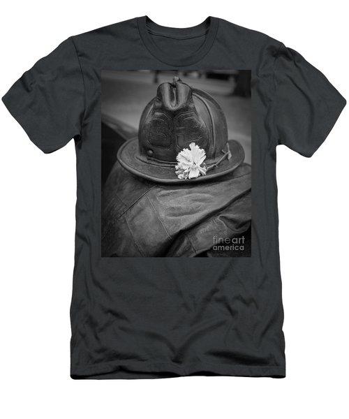 Boston Fireman Memorial Back Bay Men's T-Shirt (Athletic Fit)