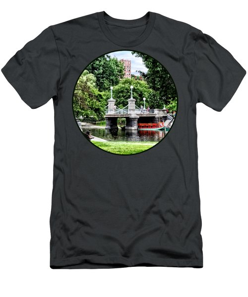 Boston Ma - Boston Public Garden Bridge Men's T-Shirt (Athletic Fit)