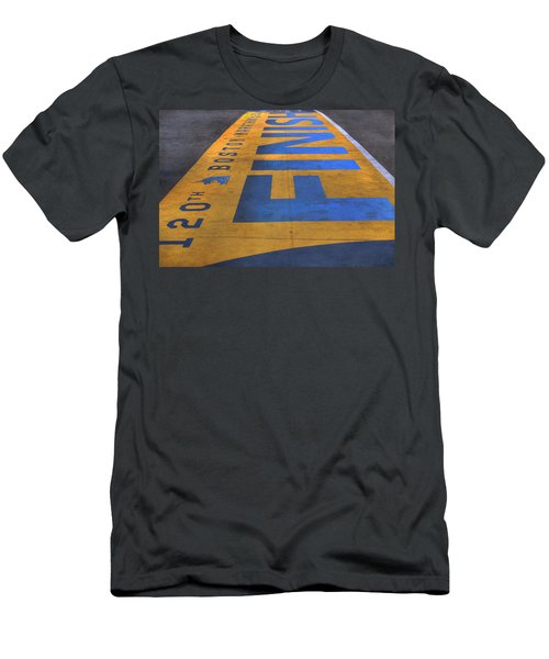 Boston Marathon Finish Line Men's T-Shirt (Slim Fit) by Joann Vitali