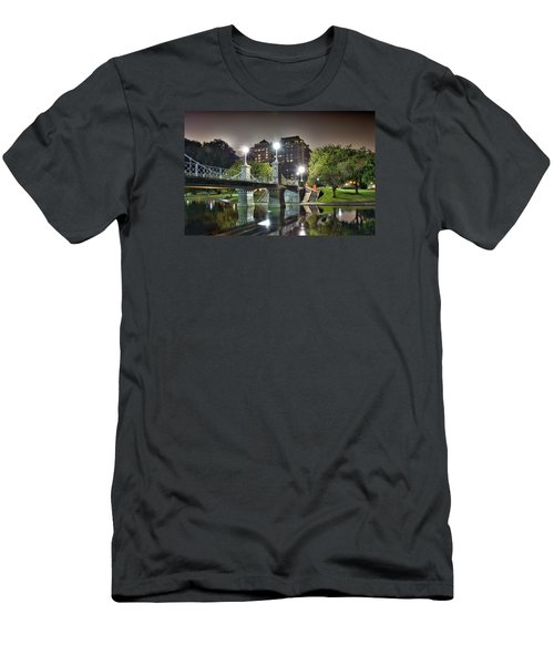Boston Public Garden Men's T-Shirt (Slim Fit) by Brendan Reals
