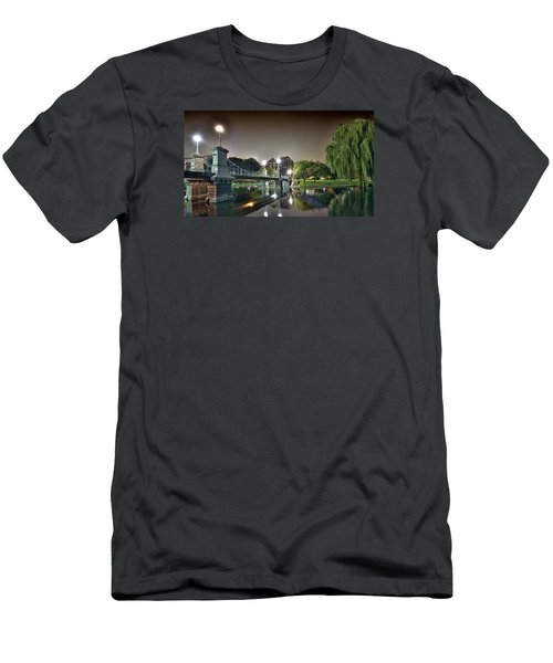 Boston Public Garden - Lagoon Bridge Men's T-Shirt (Slim Fit)