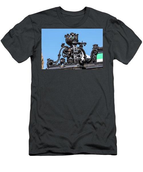 Boston Subway Station Ironwork Detail Men's T-Shirt (Athletic Fit)