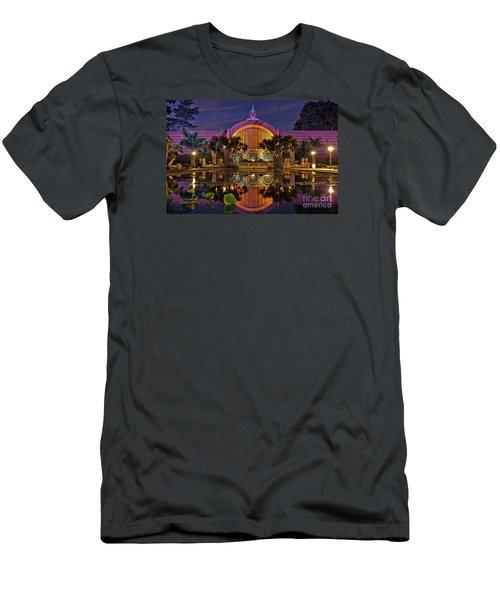 Botanical Building At Night In Balboa Park Men's T-Shirt (Slim Fit) by Sam Antonio Photography