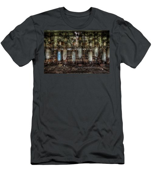 Men's T-Shirt (Slim Fit) featuring the digital art Bottles Hanging On The Wall  by Nathan Wright