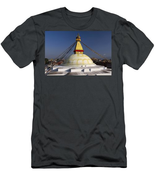 Boudhanath Stupa Men's T-Shirt (Athletic Fit)
