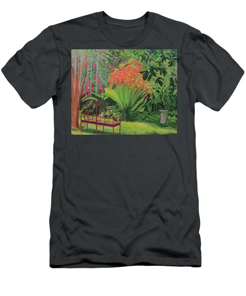 Bougainvillea Garden Men's T-Shirt (Slim Fit) by Hilda and Jose Garrancho