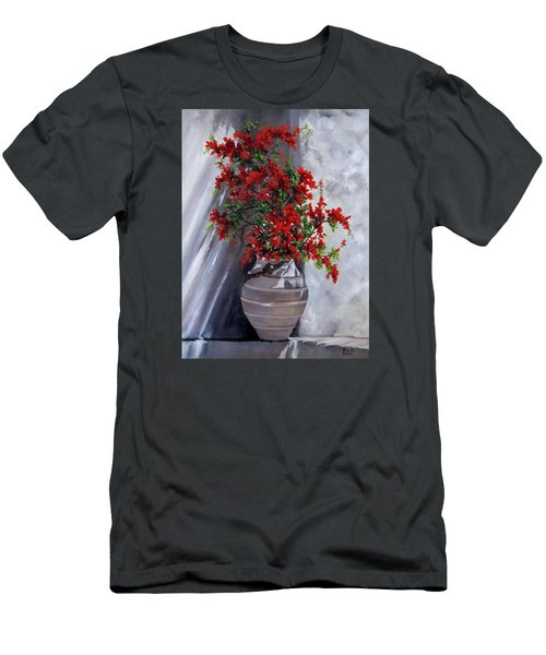 Bougainvillia Men's T-Shirt (Athletic Fit)