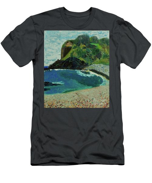 Men's T-Shirt (Slim Fit) featuring the painting Boulder Beach by Paul McKey