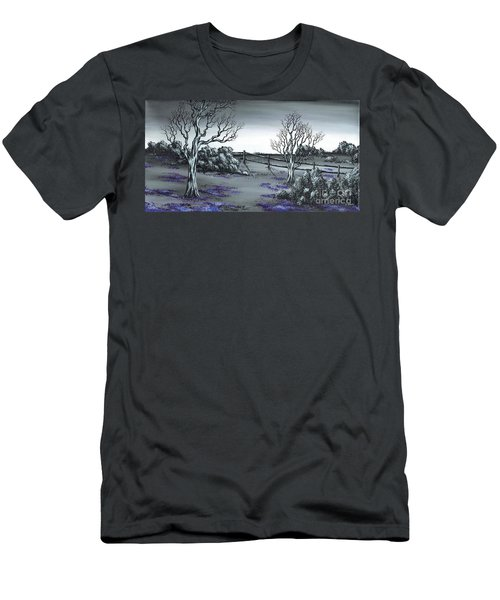 Boundry Fence. Men's T-Shirt (Slim Fit) by Kenneth Clarke