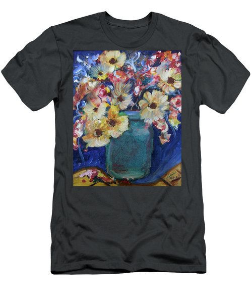 Bouquet Flowers Of Blue  Men's T-Shirt (Athletic Fit)