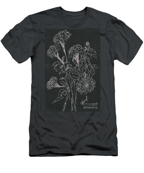 Men's T-Shirt (Slim Fit) featuring the painting Bouquet Of Flowers  by Vicki  Housel