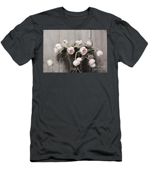 Bouquet Of Tulips Men's T-Shirt (Slim Fit) by Jeannie Rhode