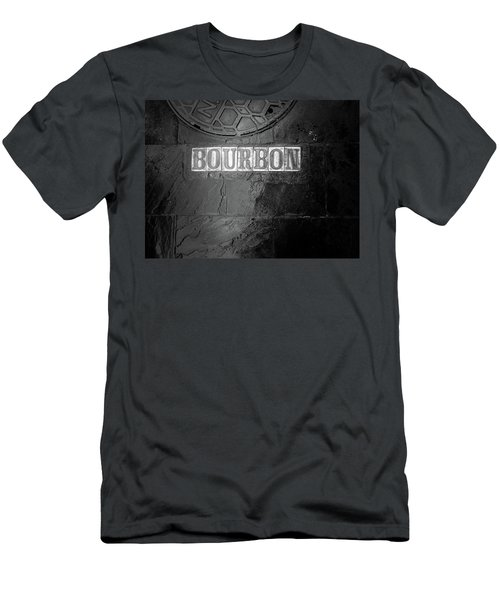 Bourbon In Black And White Men's T-Shirt (Athletic Fit)
