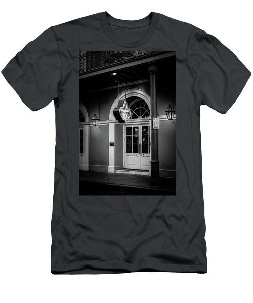 Bourbon O Bar In Black And White Men's T-Shirt (Athletic Fit)