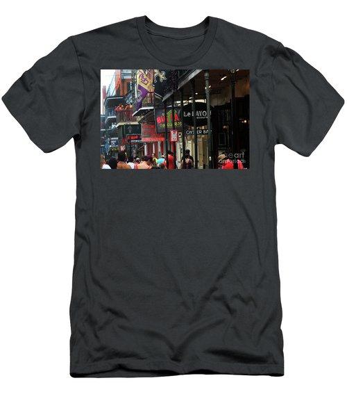 Men's T-Shirt (Slim Fit) featuring the photograph Bourbon Street by Steven Spak