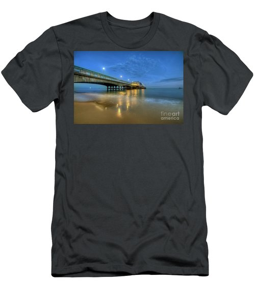 Men's T-Shirt (Slim Fit) featuring the photograph Bournemouth Pier Blue Hour by Yhun Suarez