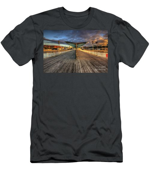 Men's T-Shirt (Slim Fit) featuring the photograph Bournemouth Pier Sunrise 2.0 by Yhun Suarez