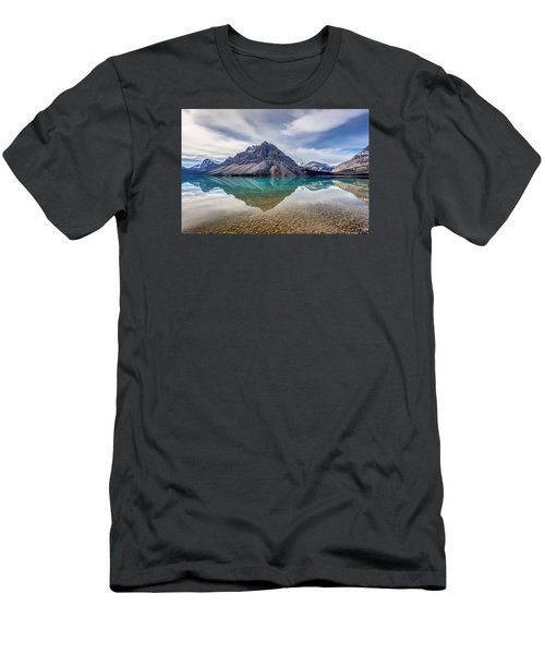 Bow Lake Reflection From Num-ti-jah Lodge  Men's T-Shirt (Athletic Fit)