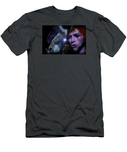 Bowie   A Welcome Star Men's T-Shirt (Slim Fit) by Glenn Feron