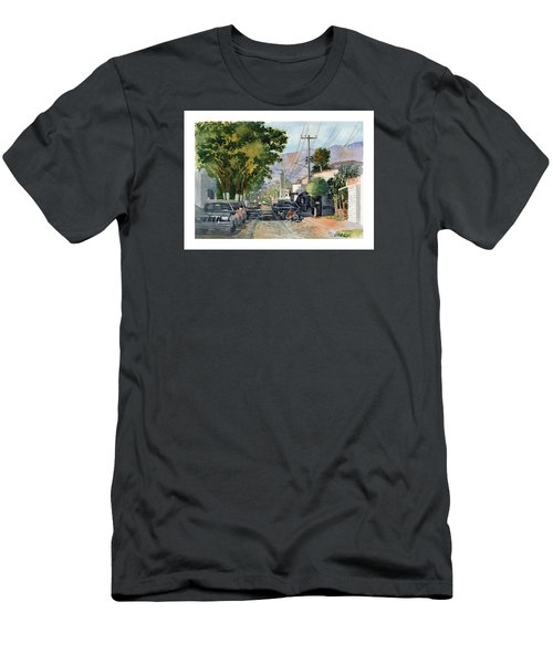 Boy With Bike, Mx Men's T-Shirt (Athletic Fit)