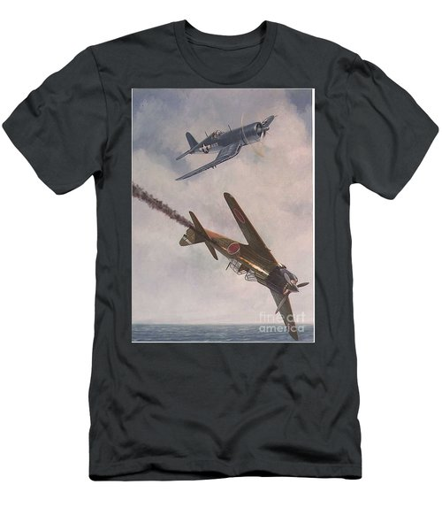 Men's T-Shirt (Slim Fit) featuring the painting Boyington Christmas by Paul Clinkunbroomer