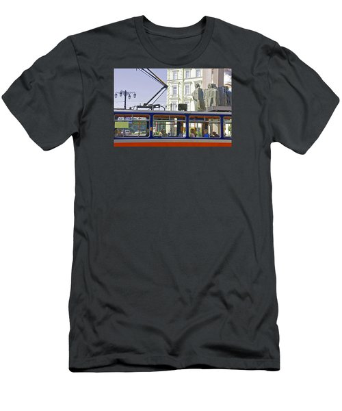 Men's T-Shirt (Slim Fit) featuring the photograph Bratislava Trolley by Dennis Cox WorldViews