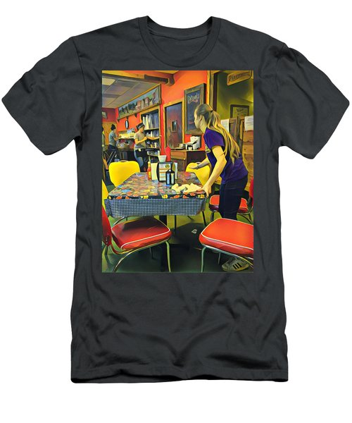 Breakfast In Wimberley Men's T-Shirt (Athletic Fit)