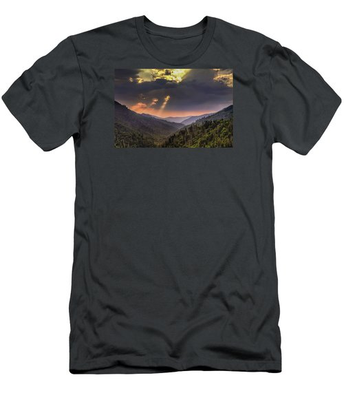 Breaking Thru At Sunset Men's T-Shirt (Athletic Fit)