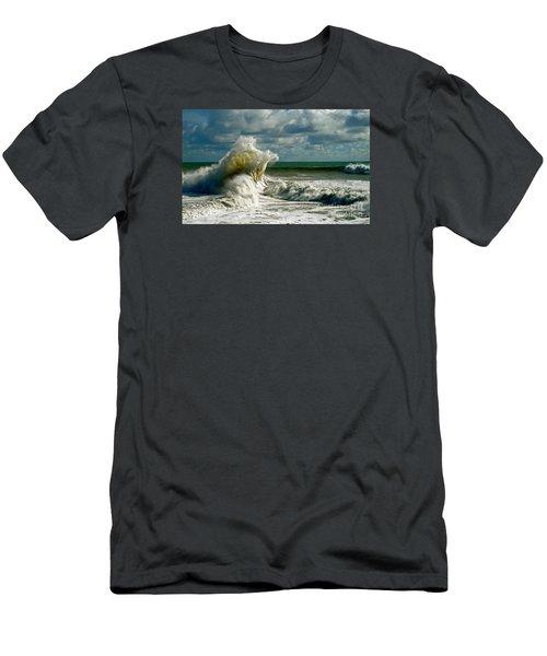 Breakwater Backwash Men's T-Shirt (Slim Fit) by Michael Cinnamond
