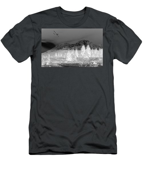 Breathtaking In Black And White Men's T-Shirt (Athletic Fit)