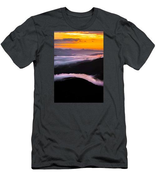 Breatthtaking Blue Ridge Sunrise Men's T-Shirt (Slim Fit) by Serge Skiba