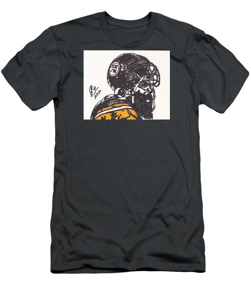 Men's T-Shirt (Slim Fit) featuring the drawing Brett Keisel by Jeremiah Colley