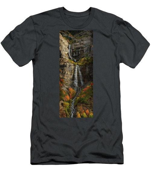 Men's T-Shirt (Athletic Fit) featuring the photograph Bridal Veil Falls by Dustin LeFevre