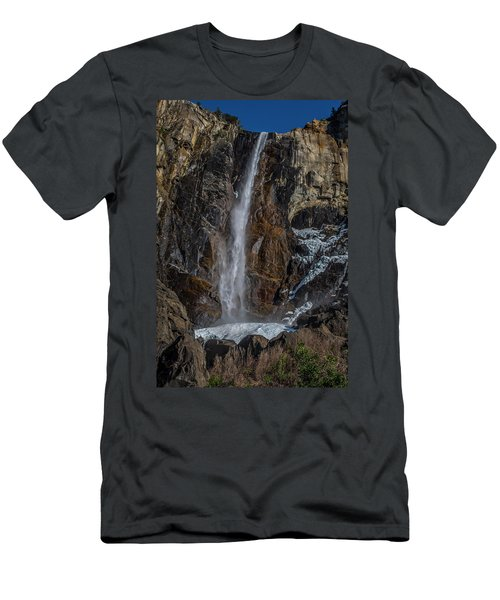 Bridal Veil Falls On Ice Men's T-Shirt (Athletic Fit)