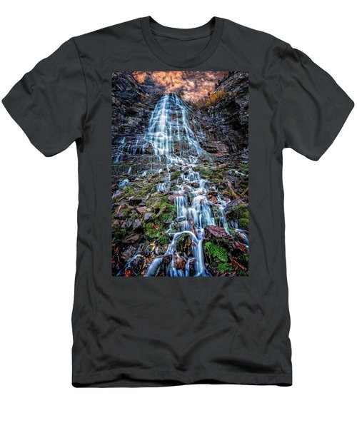 Bridal Veil Falls Utah Men's T-Shirt (Athletic Fit)