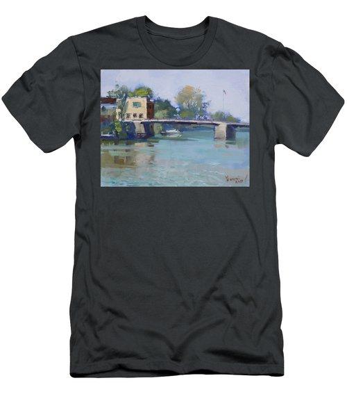Bridge At Tonawanda Canal Men's T-Shirt (Athletic Fit)