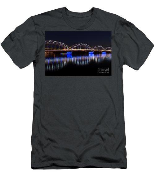 Bridge In Riga  Men's T-Shirt (Athletic Fit)