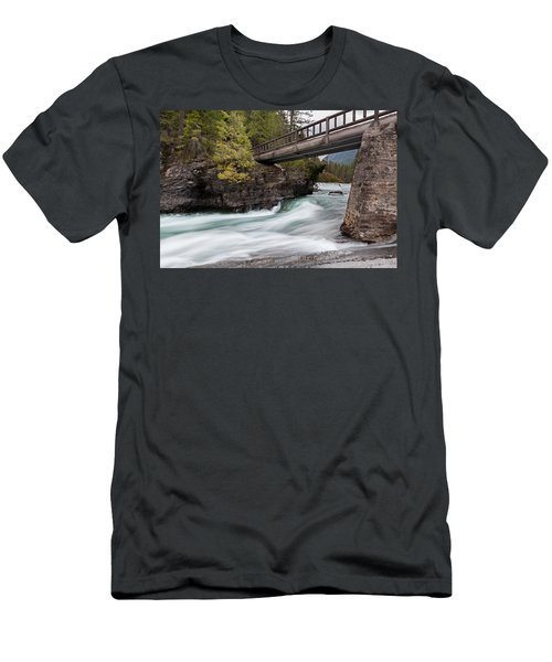 Men's T-Shirt (Athletic Fit) featuring the photograph Bridge Over Troubled Water by Fran Riley