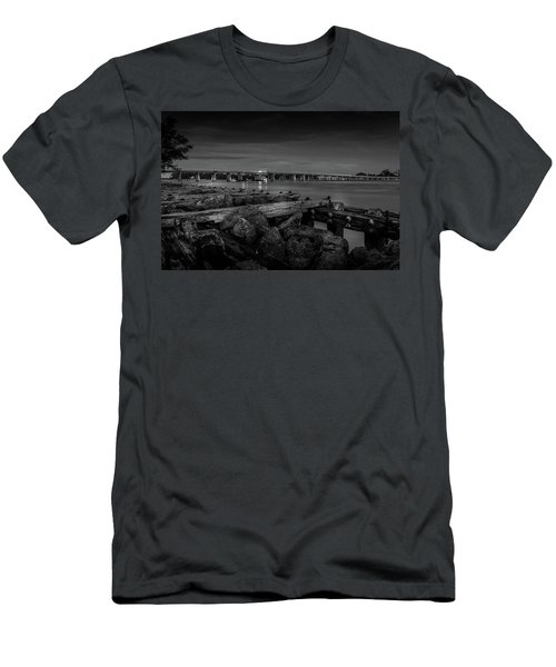 Bridge To Longboat Key In Bw Men's T-Shirt (Athletic Fit)
