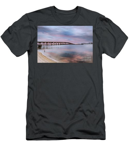 Bridge Under The Sunset Men's T-Shirt (Athletic Fit)