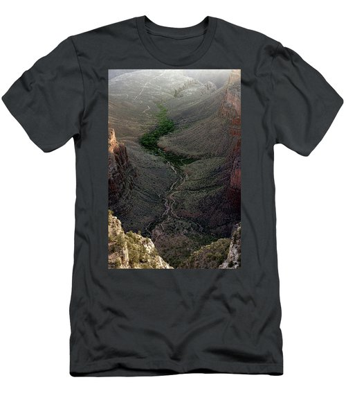 Bright Angel Trail From The South Rim, Grand  Canyon Men's T-Shirt (Athletic Fit)