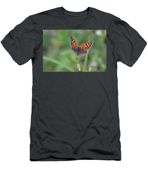 Bright Copper Men's T-Shirt (Slim Fit) by Janet Rockburn