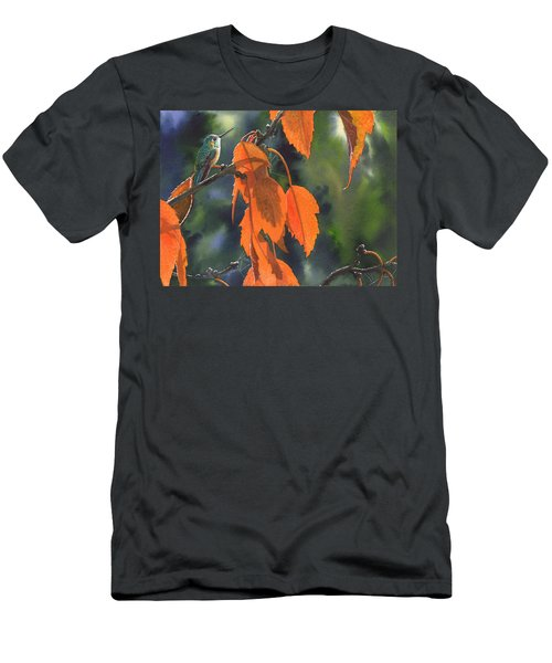 Bright Orange Leaves Men's T-Shirt (Athletic Fit)