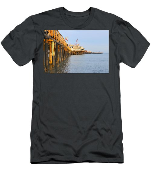 Bright Stearns Wharf Men's T-Shirt (Athletic Fit)
