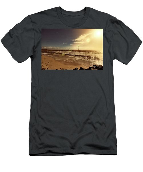 Brighton Beach Pier Men's T-Shirt (Slim Fit) by Douglas Barnard