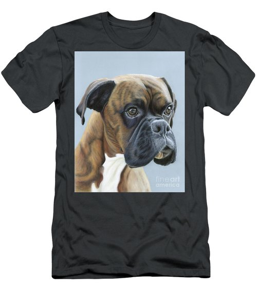 Men's T-Shirt (Athletic Fit) featuring the painting Brindle Boxer Dog - Jack by Donna Mulley